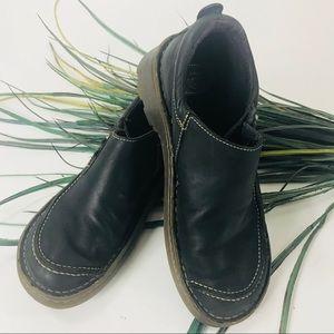 Dr Marten's. Black leather slip on loafers